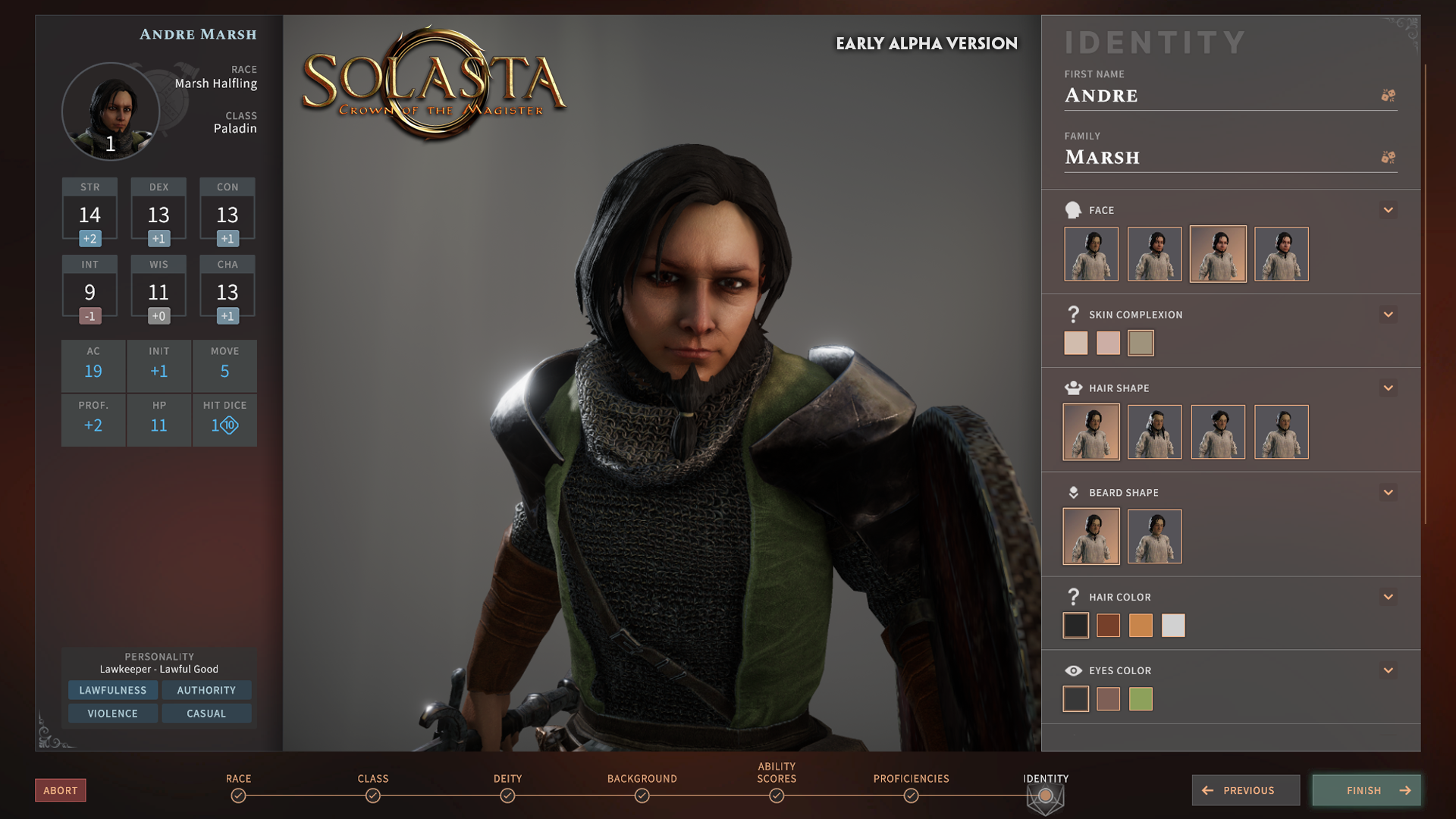solastacotm character creation | RPG Jeuxvidéo
