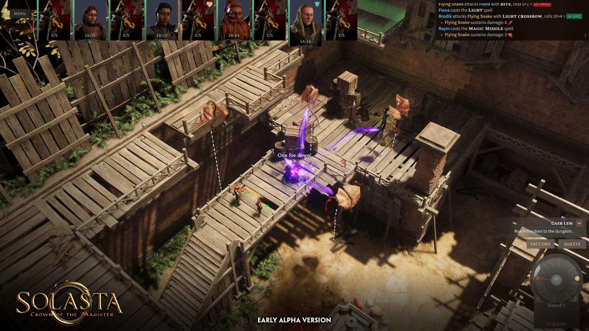 solastacotm flyingsnakes fight | RPG Jeuxvidéo